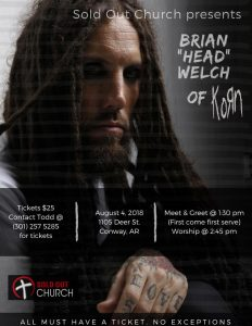 "Brian ""Head"" Welch @ Sold Out Church"